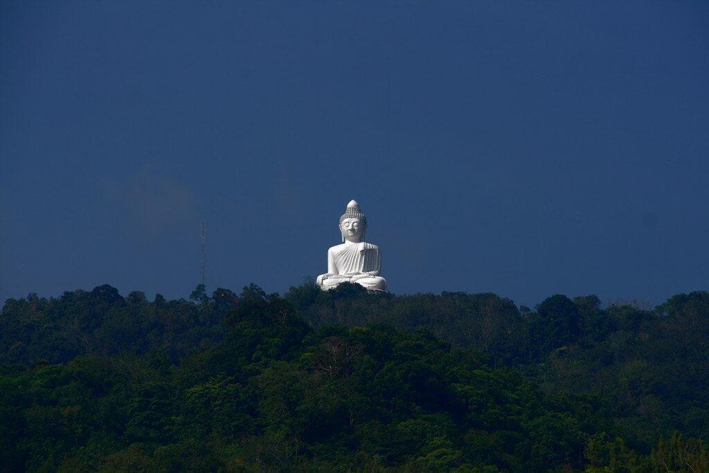 большой будда издалека