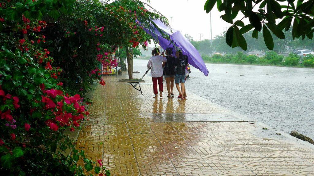 дождь в городе пхукет