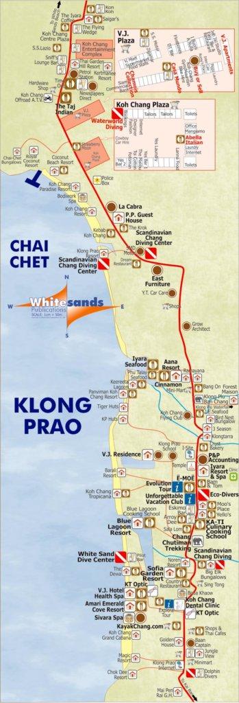 карта пляж клонг прао