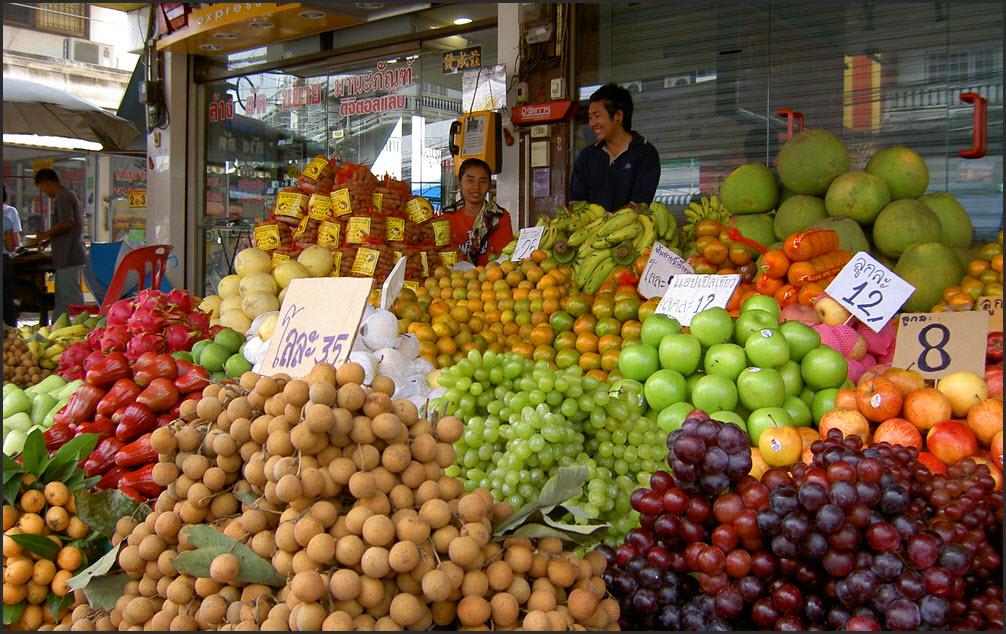 рынок фруктов